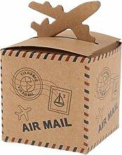 P Prettyia 50 pcs Faltpapier Box Geschenkbox