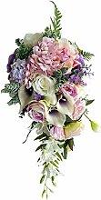 P Prettyia Blumenstrauß Brautstrauß Seidenblumen