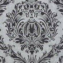 P+S Tapete ORPHEO Vliestapete Deluxe Tapeten 13087-10 Barock Tapete silber grau