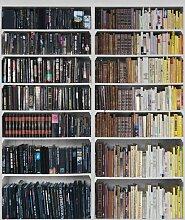 P131501-4 Wandbild Vlies-Tapete Bücherwand 220x180cm Foto Library Schwarz Gelb