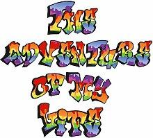 P172901-6 Foto-Tapete Vlies-Wandbild Graffiti Spruch auf weiß