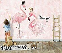 Paar-Flamingo-Hintergrund-Tapete Des Nordischen