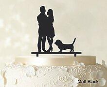 """Paar-Hochzeits Kuchendeckel Personalized Spiegel Cake Topper Color Option Verfügbar 6 """"""""-7"""""""" Zoll brei"""