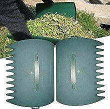 Paar Kunststoff Leaf Schaufeln Laubgreifer