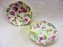 Paar Violett Sweet Pea Blütenblatt Gerichte.