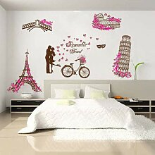 Paar Wand Aufkleber Zimmer Schlafzimmer warm