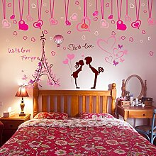 Paar Wand Aufkleber Zimmer Schlafzimmer warme