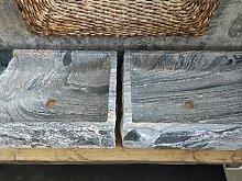 Paar Waschbecken in Juparana Granit Hochwertige
