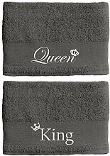 Paare King and Queen Handtuch-Set 50 x 100 cm