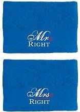 Paare Mr Right Mrs Always Right Handtuch-Set für
