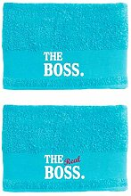 Paare The Boss The Real Boss Handtuch-Set 50 x 100
