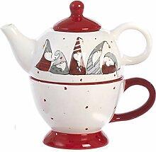 Paben Noel Set bestehend aus Teekanne und Tasse
