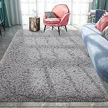 Pacapet Flauschiger Teppich, grauer Zottelteppich