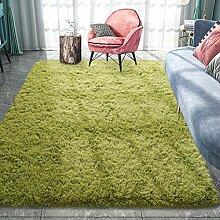 Pacapet Flauschiger Teppich, grüner Zottelteppich