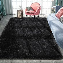 Pacapet Flauschiger Teppich, schwarzer