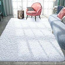 Pacapet Flauschiger Teppich, weißer Zottelteppich