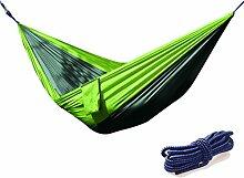 paciffico Outdoor Tragbarer Camping Hängematte Doppel Parachute Nylon Stoff Hängematten für Picknick Wandern Freizeit Park oder Strand
