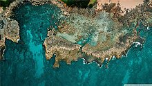 Pacific Ocean Shore Luftbild Puzzle Colletion 1000