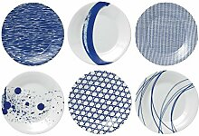 Pacific von Royal Doulton Teller, Porzellan, Blau,
