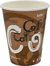 Pack & Cup Bio Einweg Kaffeebecher Pappbecher für