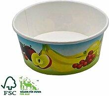 Pack&Cup Eisbecher Frutti Einwegbecher für EIS,