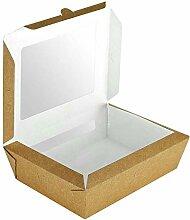 Pack&Cup Essensschachtel DUOBOX mit Zwei Fenster