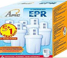 Pack mit 6 Filterkartuschen EPR für Wasserfilter Apic, Wasserfilterkanne Culligan, Lily, Jessica, Arrow, Molly, Flora