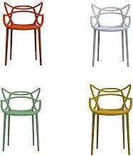 Pack multicolor 4 Stühle Sessel Kartell Masters