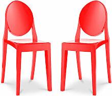 Pack von 2 Victoria Stühle Rot