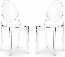Pack von 2 Victoria Stühle Transparent