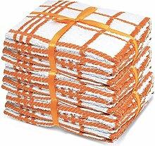 Packung mit 10 Orangen & weiße 100% Baumwolle