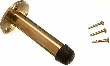 Packung mit 2 Türanschlag Aufenthalt Pillar Typ 75mm 3 Zoll Messing poliert mit Schrauben