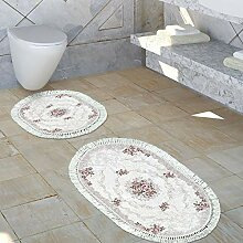 Paco Home Badezimmer Teppich Set Florale Ornamente