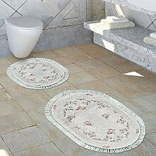 Paco Home Badezimmer Teppich Set Shabby Chic Look