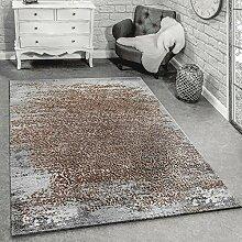 Paco Home Designer Teppich Modern Wohnzimmerteppich Mit Muster Ornamente Grau Beige, Grösse:160x230 cm