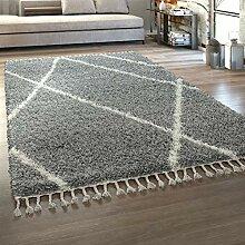 Paco Home Hochflor Teppich Wohnzimmer Shaggy