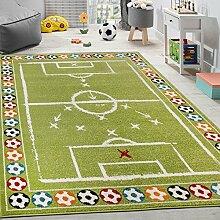 Paco Home Kinderteppich Bunte Fußbälle Design