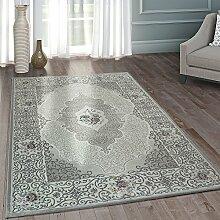 Paco Home Moderner Heatset Designer Teppich Orientalisches Muster Pastell Grau Rosa Blau, Grösse:200x290 cm