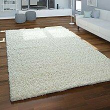 Paco Home Teppich Hochflor Shaggy Beige Wohnzimmer