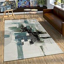 Paco Home Teppich Modern Leinwand Optik Splash