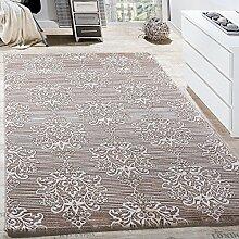 Paco Home Teppich Wohnzimmer Klassisch Floral