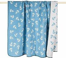 pad AHOI Decke/blanket Anker Wolldecke 150*200 aqua türkis