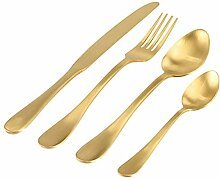 pad - Besteck-Set, goldenes Besteck - Celebrate -