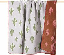 pad CACTUS Decke/blanket Wolldecke 150*200 grün orange