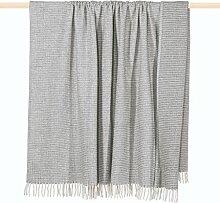 pad CLASSIC Decke/blanket Wolldecke 150*200 grau