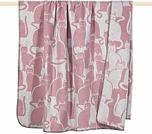 Pad Wolldecke Cats 150x200 pink