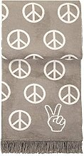 pad Wolldecke Peace, Farbe taupe, 150x200