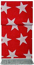 pad Wolldecke Star, Farbe red, 150x200