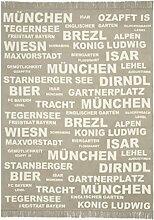 PAD Wolldecke Typo München Munich - beige -