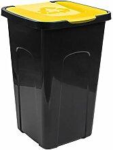 PAFEN Mülleimer 50L Abfalltonne mit Klappdeckel